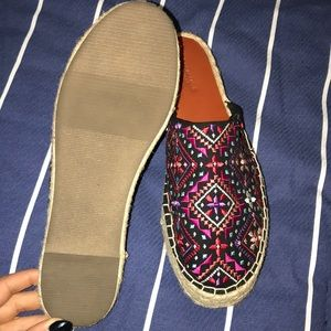 American Eagle Outfitters Shoes - Embroidered slip on shoes